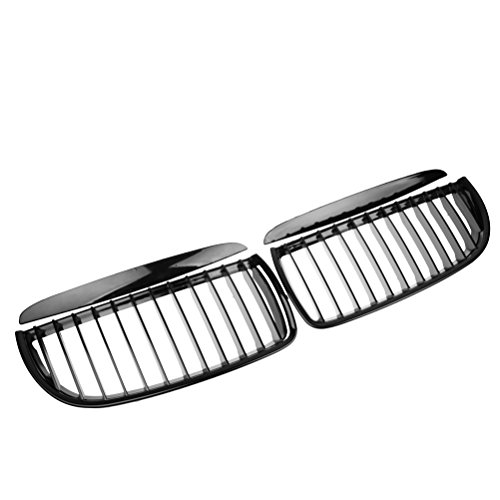 Euro Front Upper Kidney Grille Grill Kit For 2005-2008 BMW E90 Pre-Facelift (Glossy Black)