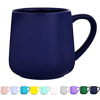 Glossy Ceramic Coffee Mug, Tea Cup for Office and Home, 18 oz, Dishwasher and Microwave Safe, 1 Pack