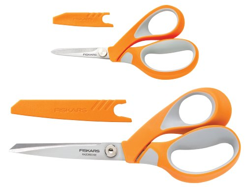 Fiskars Crafts 8165 RazorEdge Softgrip Fabric Shears Set, 5-Inch and 8-Inch