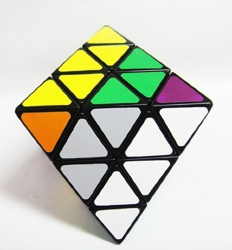 Lanlan 8-axis Octahedron Diamond Puzzle Black