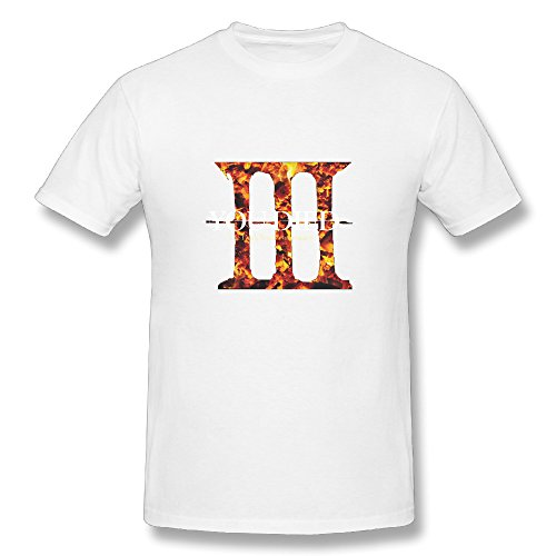 JAX Men's Custom T Shirt You Died III L White