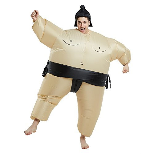 Sumo Children's Costume (Timmins Inflatable Sumo Wrestler Costume Blow Up for Adult Halloween Funny Fancy Dress)