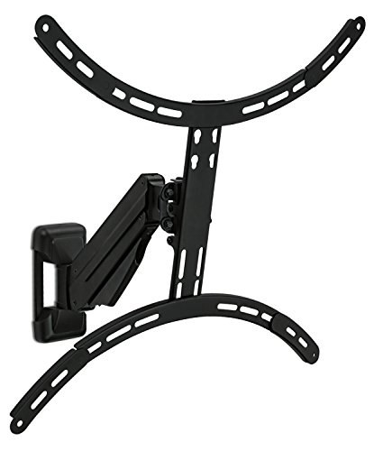 Mount-It! Height Adjustable TV Wall Mount, Interactive Counterbalance Full Motion Bracket With Gas Spring, Fits Up to VESA 600x400 and 55 Lbs - Adjustable Height Tv