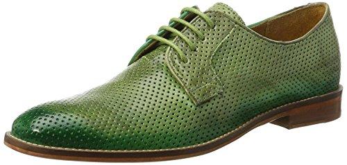 Melvin & Hamilton Amelie 9, Derbys Femme Vert (Venice Perfo / Venice Verde Chiaro/E-green/Shade Green Ls-nat. Venice Perfo / Venice Verde Chiaro/E-green/Shade Green Ls-nat.)