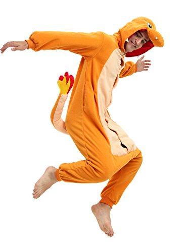 Es Unico Pokemon Charmander Adult Onesie. Halloween Costume for Women, Men and Teenagers (Pokemon Costumes For Teens)