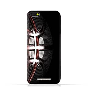 AMC Design Lava Iris 65 TPU Silicone Protective case with Basket Ball Texture Pattern