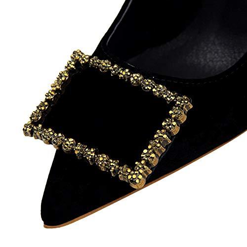 Femme Sandales Noir AdeeSu Noir EU 36 Compensées 5 SDC05868 wt55IxqAH