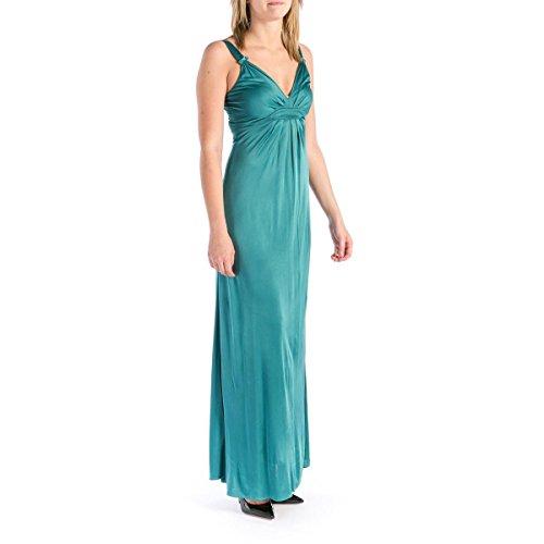 - Elie Tahari Womens Liz Long Pleated Prom Maxi Dress Green L