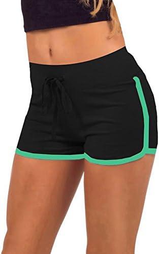 Pantaloncini corti estivi da donna sportivi per palestra Hippolo allenamento e yoga nero Black Green L