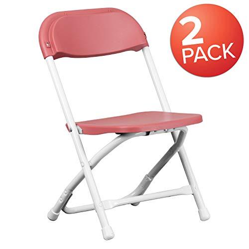 Flash Furniture 2 Pk. Kids Burgundy Plastic Folding Chair Burgundy Plastic Folding Chair