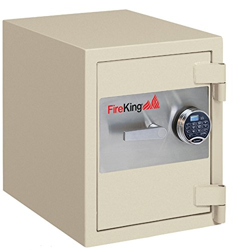 Fireking Fire & Burglary Safe, Combination lock, 21.31'' H x 17.81'' W x 21.63'' D/1.3 cu. ft., Taupe by FireKing
