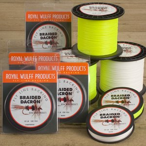 Royal Wulff Braided Dacron Fly Line Backing (Chartreuse 20 lb 100 yards)