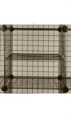 Count of 10 New Black Mini Grid Add a Shelf 14 x 14
