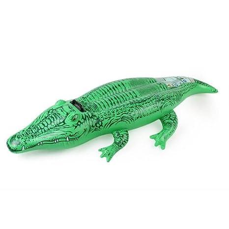 Flotador Hinchable Colchoneta Cocodrilo Verde Plástico para Niños ...