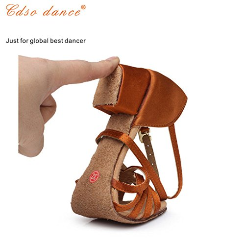 In Stock Fast Shipping Children Latin/Modern/Kids Sneakers Dance Shoes Girls Shoes Ballroom Salsa Shoes light tan 5.5 by Dance shoes (Image #5)