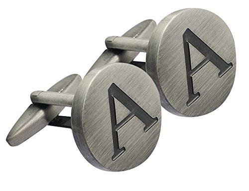 (GGemony Cufflinks for Men Shirt Cufflinks Alphabet Letter-A-925 Antique Sterling)
