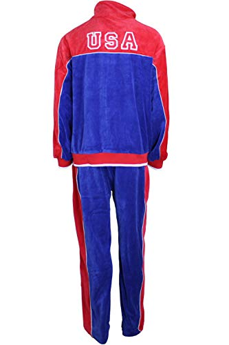 USA Red, White & Blue Velour Tracksuit X-Large -