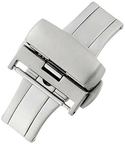 Hadley-Roma 20-mm Stainless Steel Push Button Deployant Clasp
