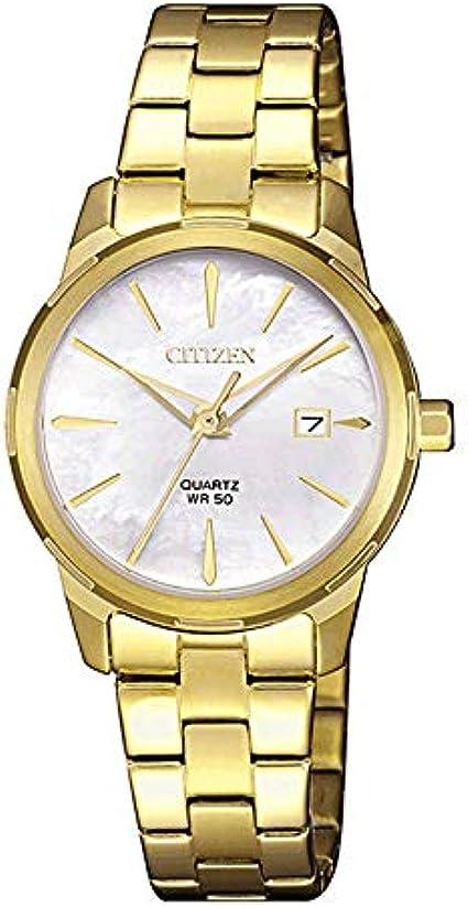 Reloj Sumergible para Señora Dorado de Citizen con Calendario EU6070-56D