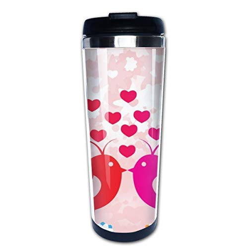 Markui Travel Coffee Mug Birds Love Stainless Steel Insulated Coffee Cup Sport Water Bottle 13.5 Oz -