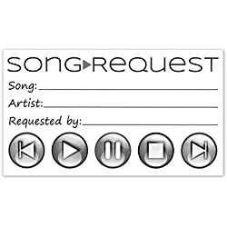 Song Request Cards for Wedding DJ, Prom, Party - Card Size 3.5 X 2 inches - Pack of 50