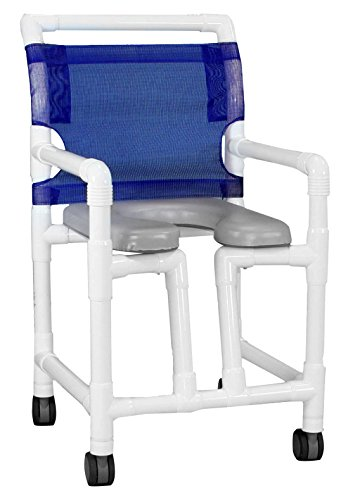 Care Products 530TWSOSL-RB Open Front Shower Chair with Slanted Seat, 18