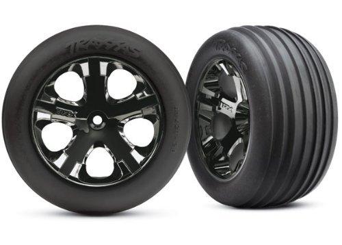 - Traxxas 3771A Alias Ribbed Tires Pre-Glued on 2.8