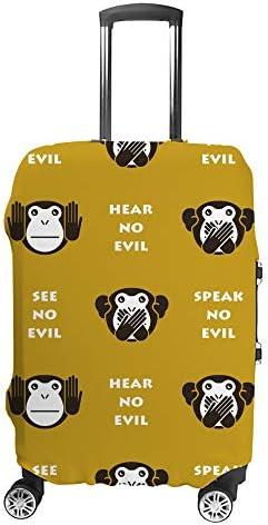 スーツケースカバー サル 伸縮素材 キャリーバッグ お荷物カバ 保護 傷や汚れから守る ジッパー 水洗える 旅行 出張 S/M/L/XLサイズ
