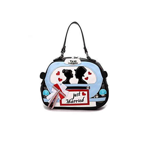 """just Married"" Shoulder Bags Osye Pu Tote Bags-blue"