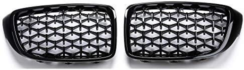 フォグライトグリル フィット感のためのBMW 4シリーズF32 F33 F36 F80 F82 F83 M3 M4スタイルダイヤモンドフロントバンパーグリルレーシング2008+自動車部品 フォグライトフレーム (Color : All black)