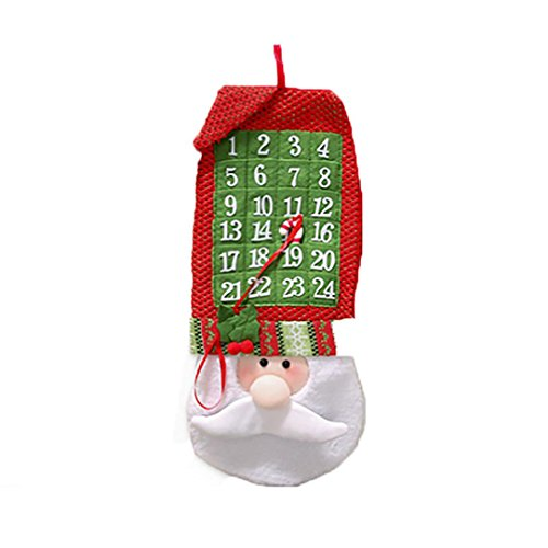 2018 Wall Calendar Christmas Countdown Calendar Santa Claus Banner Decoration Xmas Ornaments (Christmas Calendar Banner Countdown)
