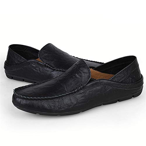 gommino Cuero De Confort Negro Barcos Calzado Para Mocasín Hombre Casual Mocasines Slip on APxawqP