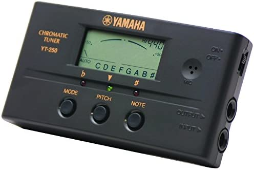 Yamaha YT250 - Afinador crómatico para guitarra y bajo (display ...