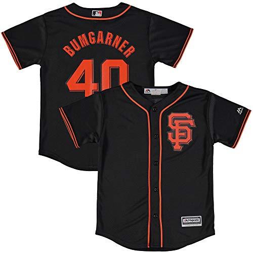 Majestic Madison Bumgarner #28 San Francisco Giants MLB Black Toddler Cool Base Alternate Replica Jersey (Toddler 3T)