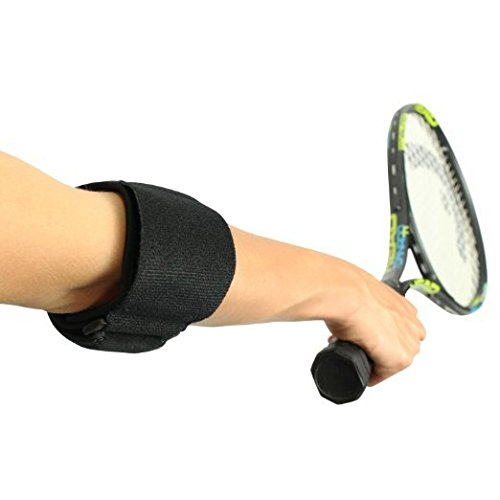 Adjustable Tennis Elbow Strap with Hot / Cold Therapy and Removable Gel Pad - Great for Tennis Elbow, Golfer's Elbow, and Elbow Tendonitis - Universal Tennis Elbow Neoprene Strap