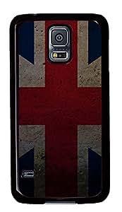 cassette Samsung Galaxy S5 case Grunge Union Flags PC Black Custom Samsung Galaxy S5 Case Cover