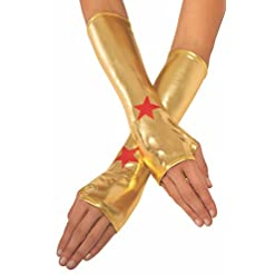 Rubie's Women's DC Superheroes Wonder Woman Gauntlets, Multi, One Size