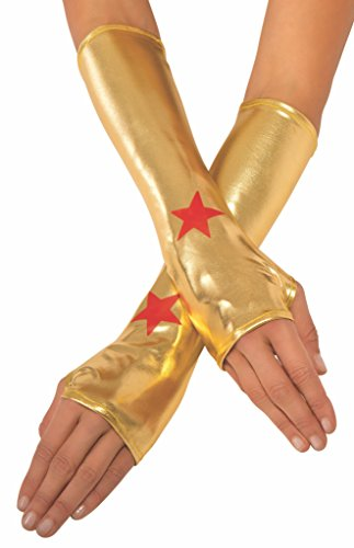 Super Hero Gloves (Rubie's Costume Co Women's DC Superheroes Wonder Woman Gauntlets, Multi, One Size)