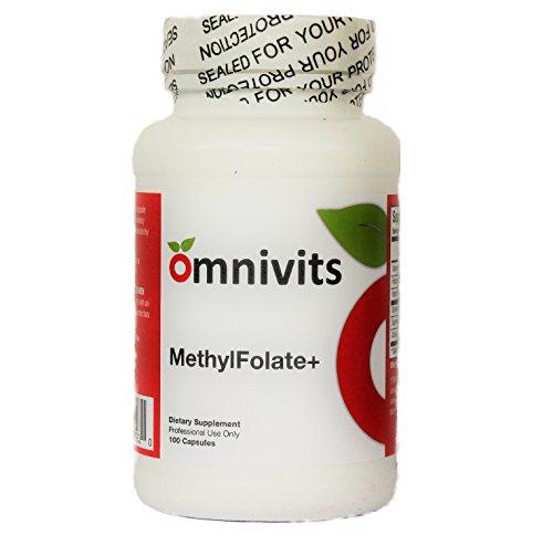MethylFolate+ The best Source of vitamin B12 as methylcobalamin Vitamin C Folate --100 Capsules