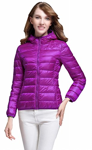Generic Women's Light Packable Packable Puffer Down Coat Purple