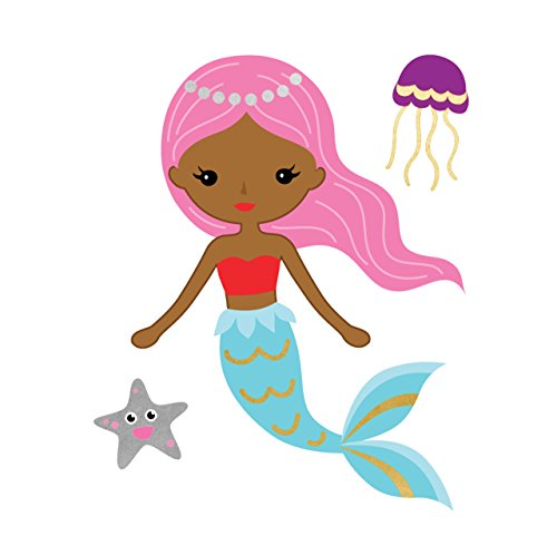PINK MERMAID set of 25 premium Fun Tats