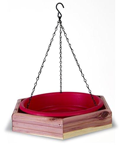 Pennington Cedar Octagon Bird Bath or Bird Feeder, Amish Made in the (Hanging Bird)