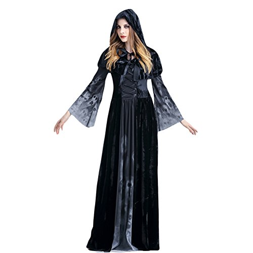 Costour Halloween Male Witch Costume Devil Witch Vampire Death Role Play Party Queen