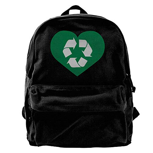 Recycler Multi (Recycle Love | Recycler Unisex Canvas Backpack Travel Bag School Bag)
