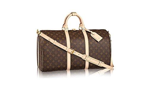 Authentic LV Monogram Canvas Cross Body Handle Keepall Bandoulière 50 Made in France (Louis Vuitton Replica Handbags)
