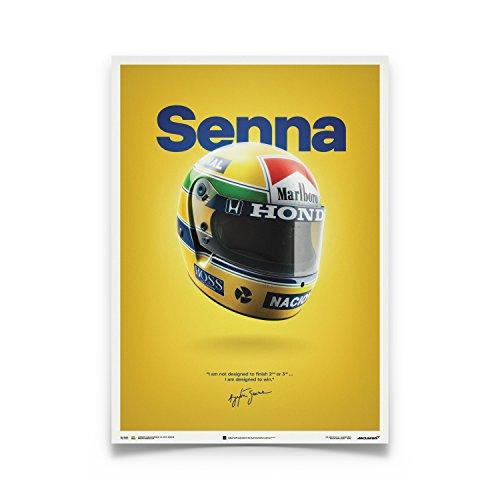 (Automobilist Store McLaren MP4/4 - Ayrton Senna - Senna - Unique Design Poster - Standard Poster Size 19 ¾ x 27 ½ Inch)