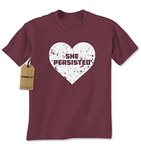 [Mens Heart She Persisted T-Shirt Small Maroon] (Patriarchy Costume)