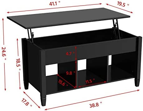 home, kitchen, furniture, living room furniture, tables,  coffee tables 1 on sale Yaheetech Lift Top Coffee Table with Hidden Compartment in USA