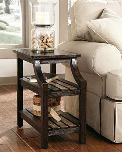 home, kitchen, furniture, living room furniture, tables,  end tables 9 picture Signature Design by Ashley - Mestler Rustic Chairside End deals