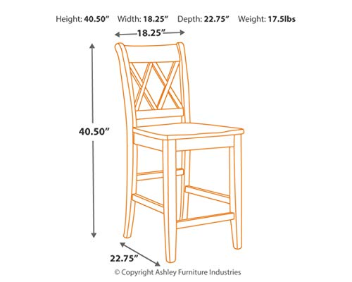 home, kitchen, furniture, game, recreation room furniture, home bar furniture,  barstools 2 on sale Signature Design by Ashley - Mestler Bar Stool - Counter in USA
